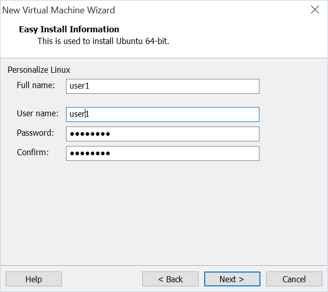 Vmware_Easy_install_information