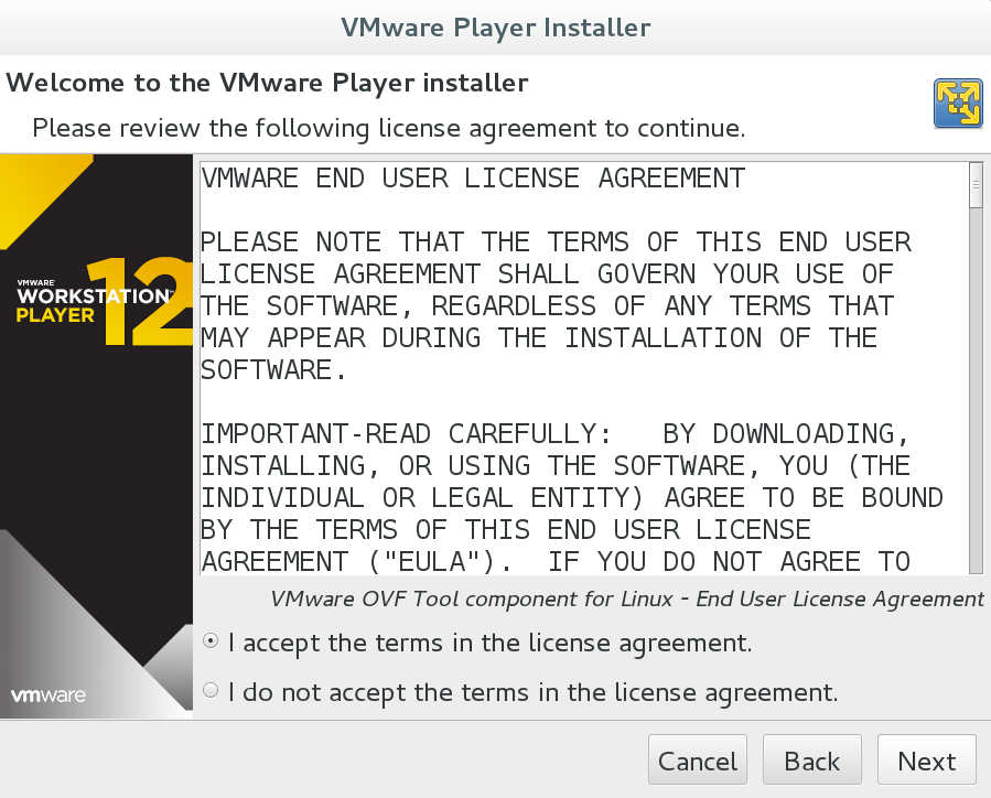 Install vmware player in Debian 8 | allaboutlinux eu